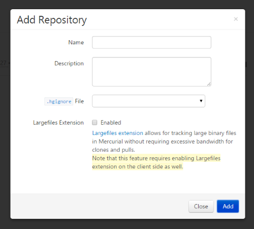 Adding Repositories to HgLab